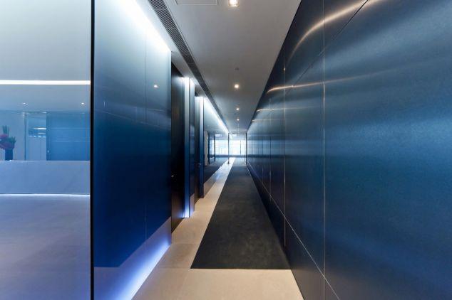 Anopanel in Anodised Brushed Matt & Bright Finishes Corridor