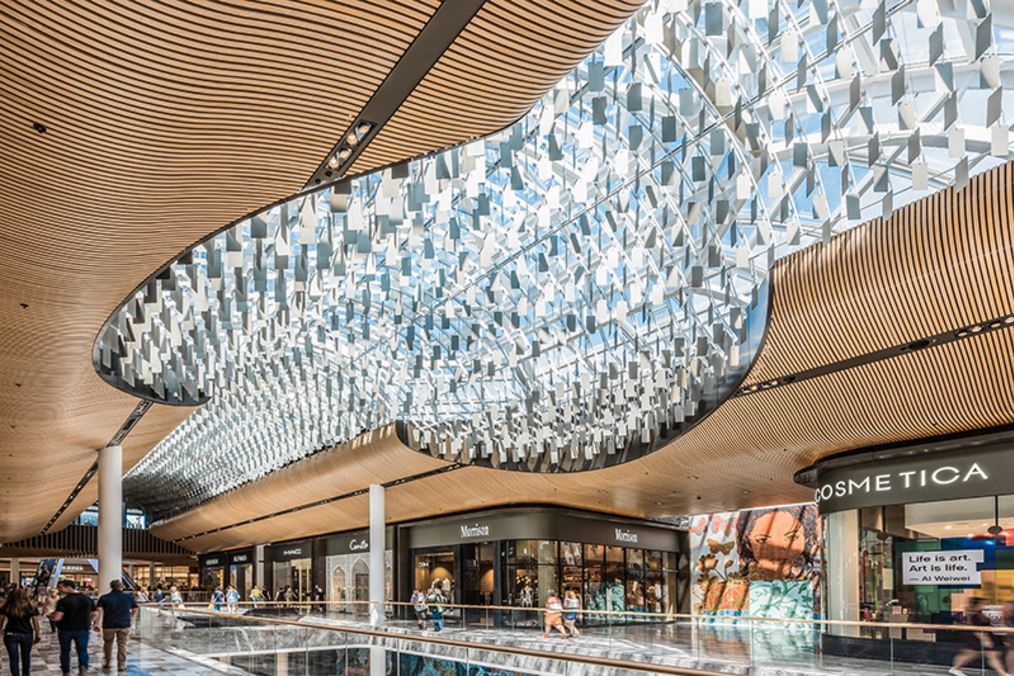 Eastlands Shopping Centre - Feature Ceiling - Chandelier1