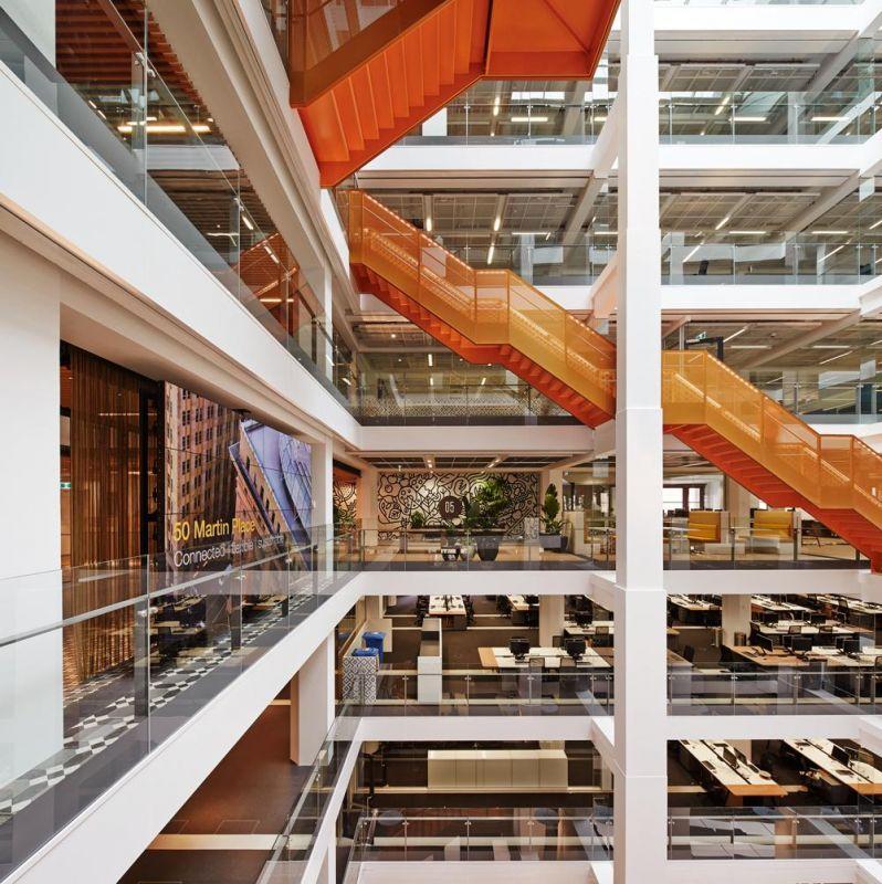 Macquarie Bank HQ - Internal Stairs7